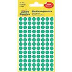 Avery Zweckform Markierungspunkte  Grün Ø 8.0 mm 4 Blatt 416 Stück