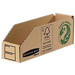 R Kive Magazijnbakjes 07352EU 100% recycled karton 5,1 x 28 x 10 cm Bruin 50 Stuks