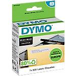 DYMO Etiketten LW11352 54 x 25 mm Wit 500 Stuks