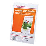 Office Depot Brochurehouder Schuinstaand model A4 Transparant 21,1 x 6,7 x 29,5 cm