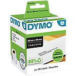 DYMO Adresetiketten 99010 89 x 28 mm Wit 2 x 130 Stuk