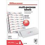 Office Depot Rechte hoeken Multifunctionele etiketten Wit 70 x 37 mm 100 Vel 2400 Stuks