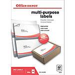 Office Depot Rechte hoeken Multifunctionele etiketten Wit 210 x 148 mm 100 Vel 200 Stuks