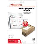 Office Depot Afgeronde hoeken Multifunctionele etiketten Wit 99,1 x 67,7 mm 40 Vel 320 Stuks