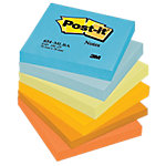 Post it 654 MLBA Zelfklevende notes Blauw, Oranje, Geel 76 x 76 mm 70 g