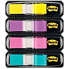 Post it Mini Spender Indexen Geel, paars, roze, turquoise 11,9 x 43,2 mm 11,9 x 43,2 mm 72 g