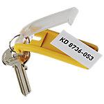 DURABLE Sleutelhangers Key Clip haakjes Geel 6 Stuks