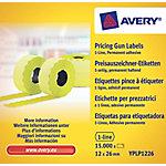 Avery Etiketten YPLP1226 Geel 26 x 12 mm 10  x 1.500 Etiketten