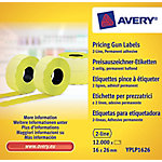 Avery Etiketten YPLP1626 Geel 26 x 16 mm 10  x 120 Etiketten