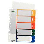 Leitz Tabbladen A4+ Kleurenassortiment 5 tabs 11 gaats Polypropyleen 1 tot 5