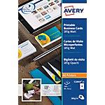 Avery Visitekaartjes A4 Mat 185 g