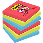 Post it 654 6SS JP Super Sticky notes Roze, groen, donkerblauw 76 x 76 mm 70 g