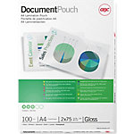 GBC Lamineerhoezen Document Pouch A4 2x75mic (100) A4 2 x 75 (150) µm