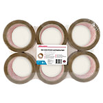 Office Depot Low noise Industriële tape Bruin 50 µm 48 mm x 66 m 6 Rollen