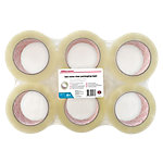 Office Depot Low noise Industriële tape Transparant 50 µm 50 mm x 100 m 6 Rollen