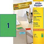 Avery Zweckform QuickPEEL Universele etiketten Groen 210 x 297 mm 100 Vel 100 Stuks