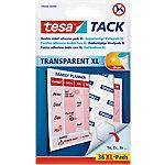 tesa Dubbelzijdige Kleefpads Tack XL Transparant   36 Stuks