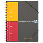 Oxford International Meetingbook Spiraalblok Oranje Geruit 5 x 5 mm A5+ 80 g