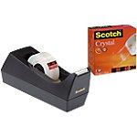 Scotch C38 Tapedispenser Zwart Scotch® dispenser + 1 rol Scotch® Crystal tape 19 mm x 33 m