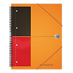 Oxford International Meetingbook Spiraalblok Oranje Gelinieerd A5+ 80 g