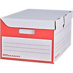 Office Depot Container voor A4 archiefdozen Rood Karton 54,5 x 35,4 x 25,5 cm 10 Stuks
