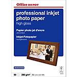 Office Depot Professional Inkjet fotopapier A4 Glanzend 270 g