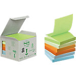Post it Recycled Z notes Kleurenassortiment Blanco 76 x 76 mm 76 x 127 mm 6 x 100 Vel