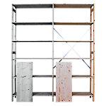 Houten aanbouwstelling 100 x 30 x 210 cm 6 planken