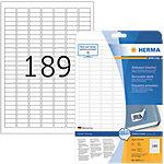 HERMA Movables Etiketten Wit 25,4 x 10 mm 25 Vel 4725 Stuks