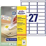 Avery Stick & Lift Herkleefbare etiketten Wit 63,5 x 29,6 mm 25 Vel 675 Stuks