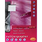 Multo Ringbandinterieur Wit Geruit 5 x 5 mm 23 gaats A4   50 Vel