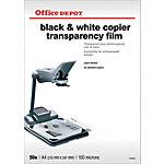 Office Depot Transparanten met schutvel 100 Micron A4 Voor kopieerapparaten 210 x 297 mm 50 Vel