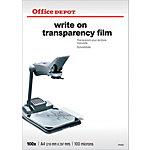 Office Depot Schrijftransparanten 100 Micron A4 voor overheadprojectoren 210 x 297 mm 100 Vel
