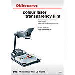 Office Depot Transparanten voor kleuren laserprinters 125 Micron A4 Glad voor kleurenlaserprinters 610 x 45 mm 50 Vel