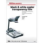 Office Depot Transparanten 100 Micron A4 voor zwart