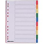 Office Depot Tabbladen A4 Kleurenassortiment 10 tabs 11 gaats Polypropyleen Blanco