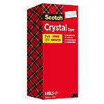 Scotch Crystal Tape Transparant 19 mm x 33 m 7 rollen + 1 rol gratis