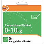 PostNL Pakketzegels aangetekend pakket, 0 10 Kg 5 Stuks