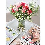 Bunchmakers Bloemenboeket Rozen en bessen Rood, roze