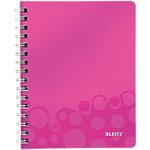 Leitz WOW Notitieboek Roze Geruit A5 80 Vel
