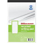 Office Depot Recycled schijfblokken Geruit A4+ 21 x 29,7 cm 70 g