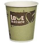 PAPSTAR Papieren bekers Pure love Groen 0,20 l 50 Stuks