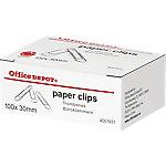 Office Depot Paperclips Zilver 30 mm 100 Stuks