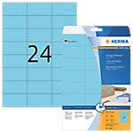 HERMA Special Etiketten Blauw 70 x 37 mm 20 Vel 480 Stuks