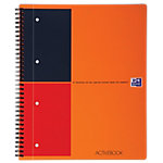Oxford International activebook Spiraalblok Oranje Gelinieerd A4+   80 g