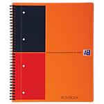 OXFORD International activebook Spiraalblok Oranje Gelinieerd A4+   80 g