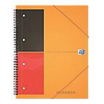 Oxford International meetingbook Spiraalblok Oranje Gelinieerd A4+ 210 x 297 mm 80 g