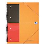 OXFORD International meetingbook Spiraalblok Oranje Gelinieerd A4+ 210 x 297 mm 80 g