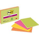 Post it Super Sticky Zelfklevende notes Kleurenassortiment neon 152 x 203 mm 70 g