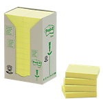 Post it 653 1T Recycled notes Geel Blanco nee 38 x 51 mm 38 x 51 mm 70 g